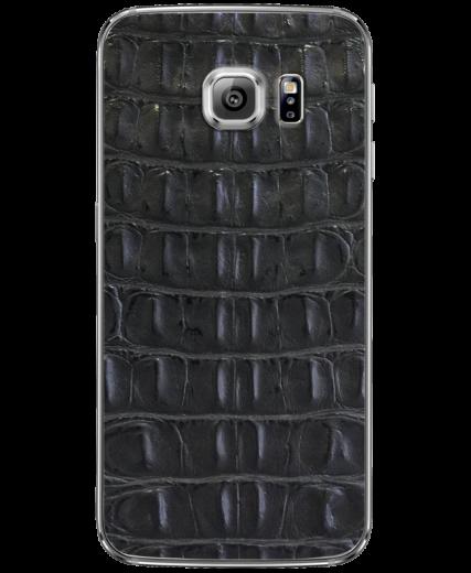 Кожаная наклейка Black Croco  для Samsung Galaxy S6 edge (G925)