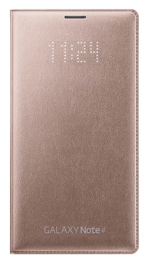 Чехол Samsung LED Flip Wallet для Samsung Galaxy Note 4 N910H Gold (EF-NN910BEEGRU)