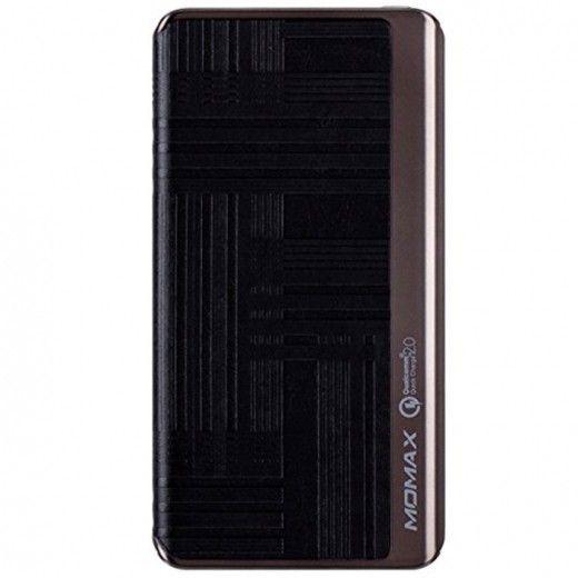 MOMAX iPower Elite+ External Battery Pack 8000mAh QC2.0 Emboss Black (IP52BD)