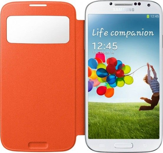 Чехол Samsung для Galaxy S4 I9500 S-View Orange (EF-CI950BOEGWW)