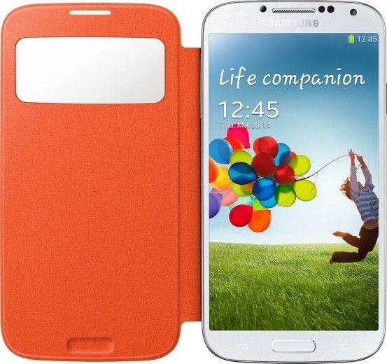 Чехол Samsung для Galaxy S4 I9500 S-View Orange (EF-CI950BOEGWW)