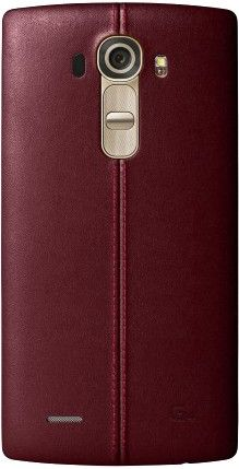 Накладка LG G4 Leather Battery Cover для LG G4 H818 Red (CPR-110.AGEUBR)