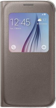 Чехол Samsung S View Zero для Samsung Galaxy S6 Gold (EF-CG920PFEGRU)