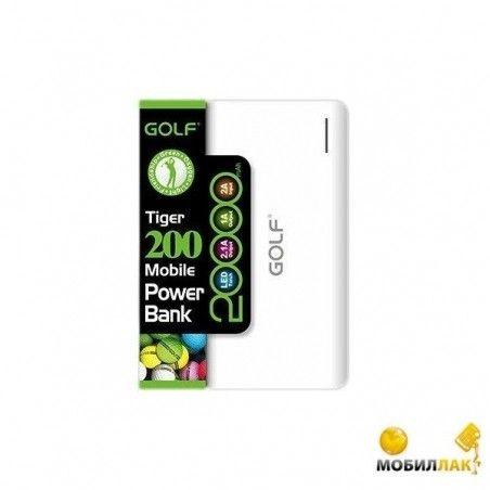 Портативная батарея      GOLF GF-200 20000mAh White