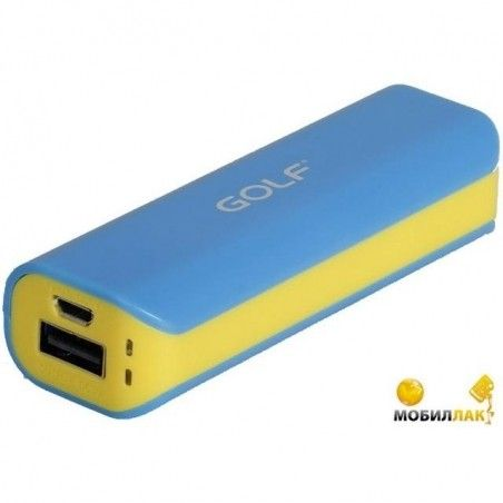 Портативная батарея      GOLF GF-801 2600mAh Yellow-Blue