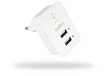 Сетевое зарядное устройство Belkin 2 USB 2,1A/10Watt White (BK055)