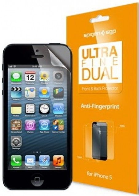 Защитная пленка Spigen Screen Protector Steinheil Ultra Dual Fine for iPhone 5 (SGP09595)