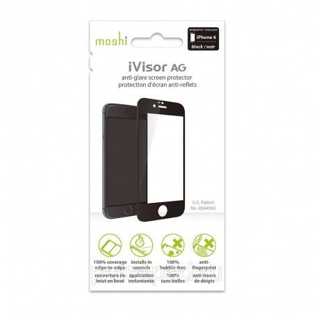 Защитная пленка Moshi iVisor AG Screen Protector Black for iPhone 6 (99MO020968)