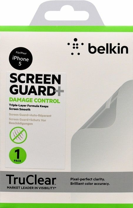 Защитная пленка Belkin iPhone 5 Damage control (F8W181cw)