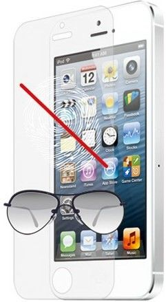Защитная пленка Ozaki O!coat Anti-glare&fingerprint+ for iPhone 5 (OC527)
