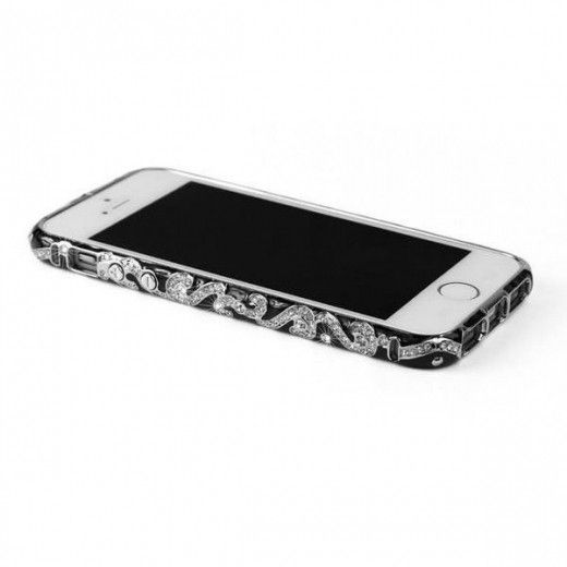 Бампер Newsh MERAL AND DIAMONDS iPhone 5 Black