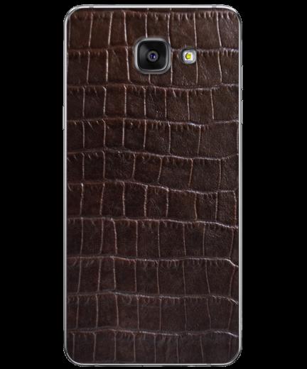 Кожаная наклейка Dark Brown Croco для Samsung Galaxy A5 (2016)