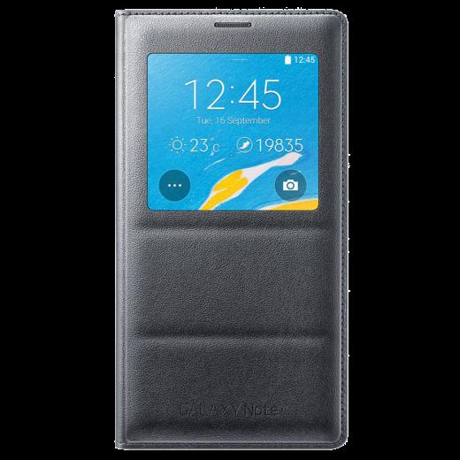 Чехол Samsung для Galaxy Note 4 S view (EF-CN910BCEGRU) Charcoal