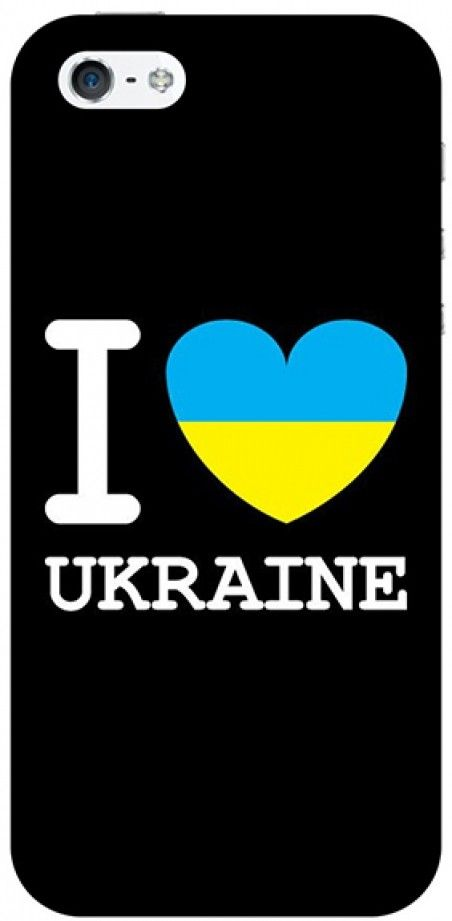 Накладка FaceCase PAINTING для iPhone 5 I Love Ukraine Black