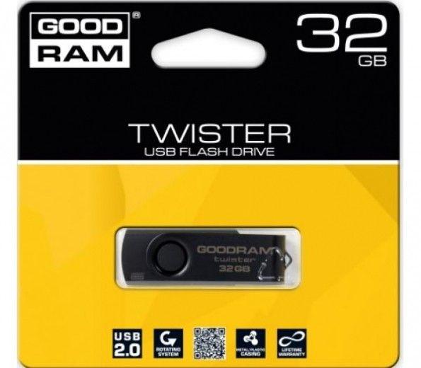 USB флеш накопитель Goodram Twister 32GB Black