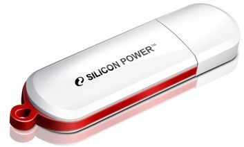 USB флеш накопитель Silicon Power LuxMini 320 8GB White (SP008GBUF2320V1W)