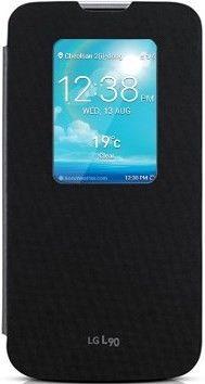 Чехол LG QuickWindow для LG Optimus L90 D405 Black (CCF-380.AGEUBK)