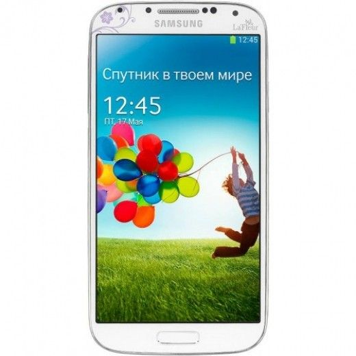 Мобильный телефон  Samsung I9500 Galaxy S4 White La Fleur