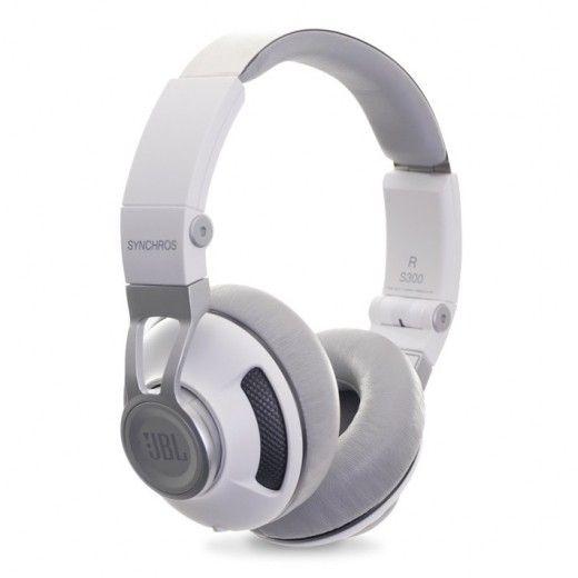НавушникиJBL On-Ear Headphone Synchros S300a White/Silver (SYNOE300AWNS)