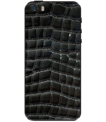 Кожаная наклейка Dark Croco для iPhone 5S/SE