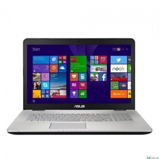 Ноутбук ASUS N751JX (N751JX-T7195T) (90NB0842-M02350) Gray Silver
