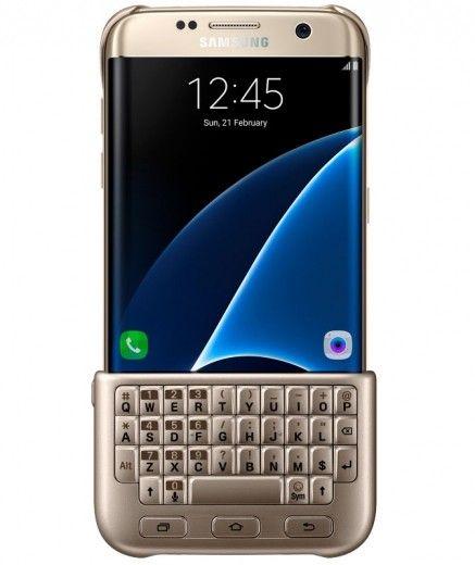 Чехол-клавиатура Keyboard Cover Samsung Galaxy S7 edge Gold (EJ-CG935UFEGRU)