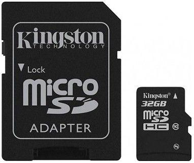 Карта памяти Kingston MicroSDHC 32GB Class 10 + SD-adapter (SDC10/32GB)