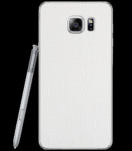 Кожаная наклейка White Alligator для Samsung Galaxy Note 5 (N920)