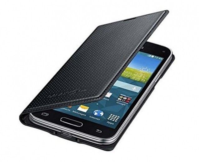 Чехол Samsung для G800 Galaxy S5 mini Black (EF-FG800BKEGRU)