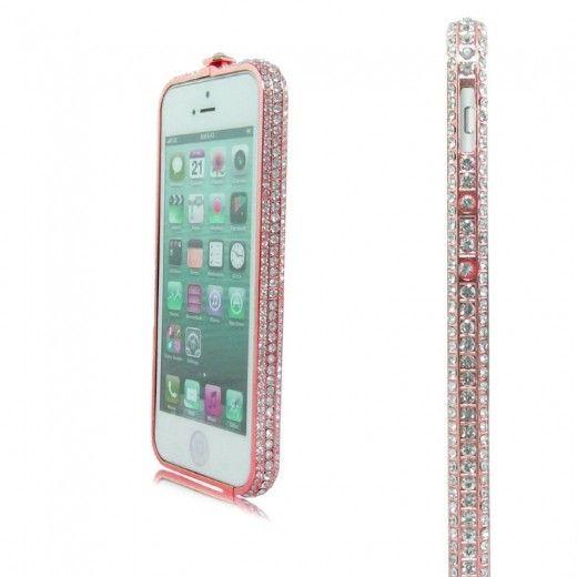 Бампер Metal Million Diamonds iPhone 6 Pink