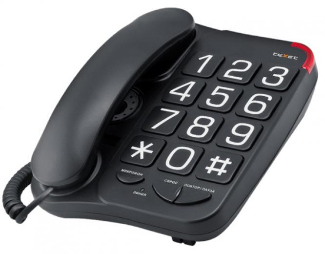Телефон Texet TX-201 Black