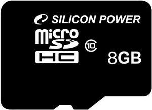 Карта памяти Silicon Power 8 GB microSDHC Class 10 SP008GBSTH010V10