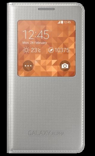 Чехол Samsung S View EF-CG850BSEGRU Silver для Galaxy Alpha