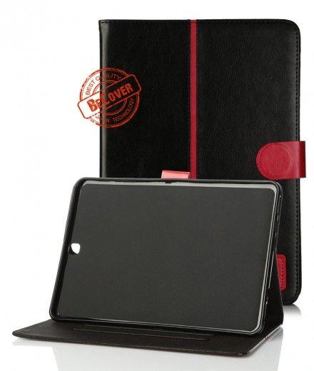 Кожаный чехол Folio PU BeCover для Samsung Tab S2 9.7 T810/T815 Black-Red