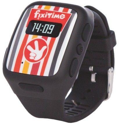 Детские телефон-часы с GPS трекером FixiTime Smart Watch Black (FT-101B)