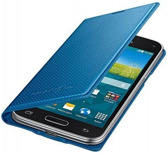 Чехол Samsung для G800 Galaxy S5 mini Blue (EF-FG800BEEGRU)