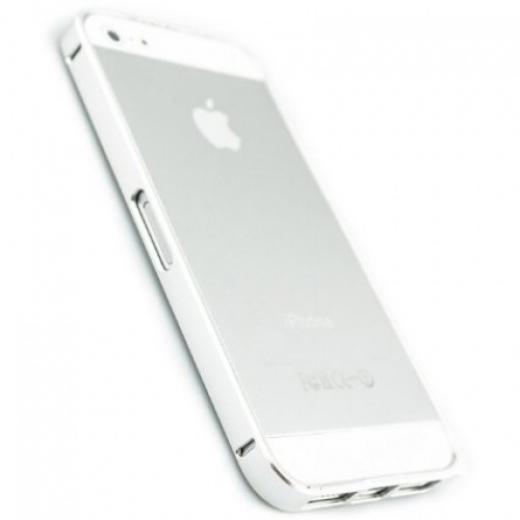 Бампер Metalic Slim Elegant iPhone 5 Silver