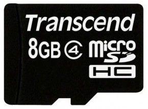 Карта памяти Transcend 8 GB microSDHC class 4 TS8GUSDC4
