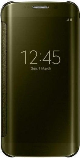Чехол Samsung Clear View для Samsung Galaxy S6 Edge Gold (EF-ZG925BFEGRU)