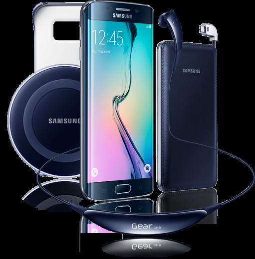 Мобильный телефон Samsung Galaxy S6 Edge 32GB G925F (F-G925FZKASEK) Black Special Edition