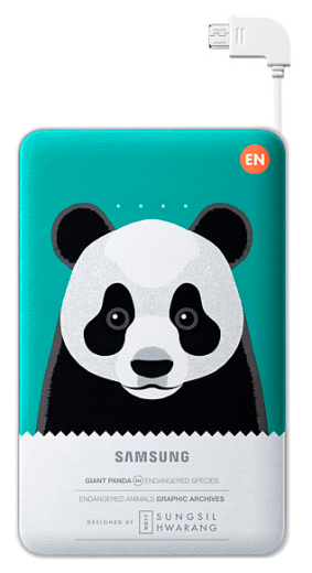 Портативная батарея Samsung External Battery Pack Animal Edition EB-PN915BGRGRU Green Panda