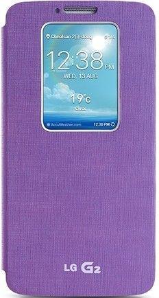 Чехол LG QuickWindow для LG G2 D802 Violet (CCF-240G.AGEUVL)