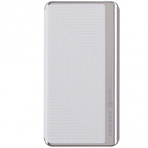 MOMAX iPower Elite+ External Battery Pack 8000mAh QC2.0 Emboss White (IP52BW)