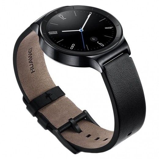 Смарт часы Huawei Watch (Black Stainless Steel with Black Leather Strap)