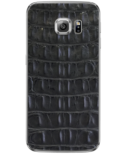 Кожаная наклейка Black Croco  для Samsung Galaxy S6 edge + (G928)