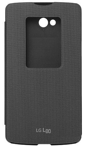Чехол LG QuickWindow для LG Optimus L80 Black (CCF-510.AGEUBK)