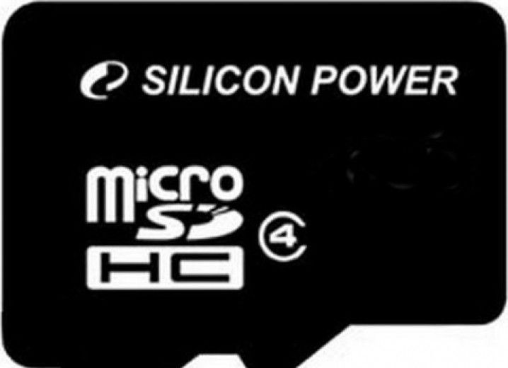 Карта памяти Silicon Power 8 GB microSDHC Class 4 SP08GBSTH004V10