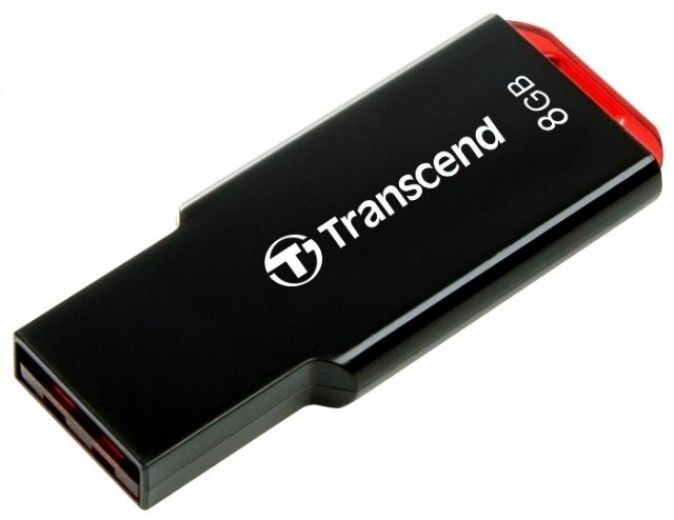USB флеш накопитель TRANSCEND JETFLASH 310 8 GB (BLACK) (TS8GJF310