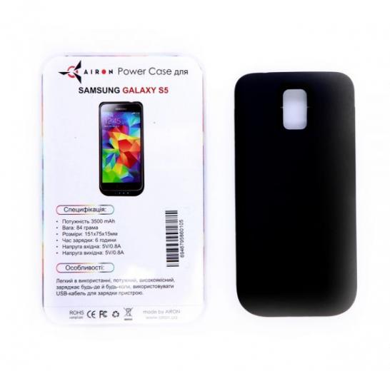 Чехол-аккумулятор AIRON Power Case для Samsung Galaxy S5 Black