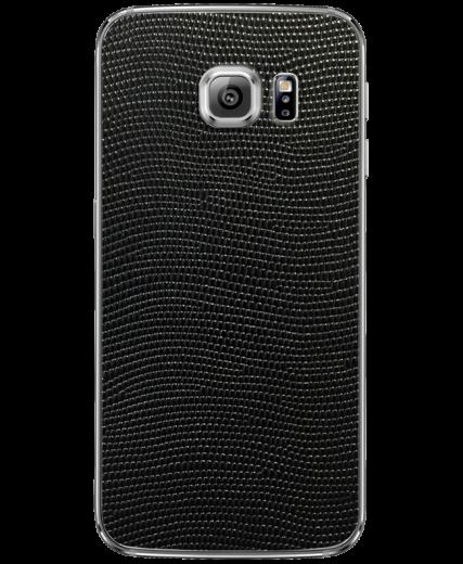 Кожаная наклейка Black Stingray для Samsung Galaxy S6 (G920)